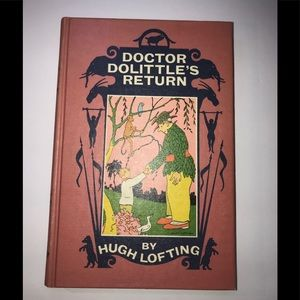 Vintage 1961 Dr Dolittles return hardcover book